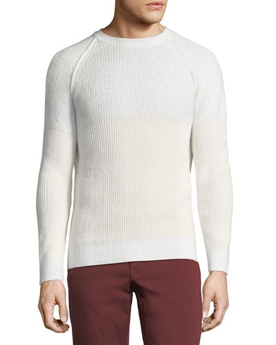 Il Borgo English-Rib Cashmere-Silk Sweater