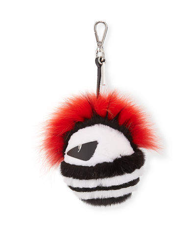 Punk Bag Bug Fur Charm for Bag or Briefcase