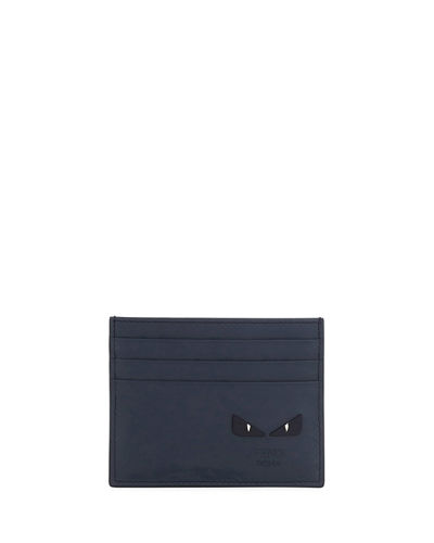 Fendi Micro-Bugs Leather Card Case