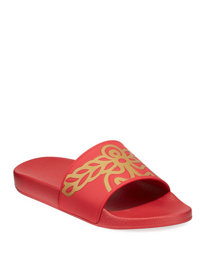 Men's Rubber Logo Slide Sandals