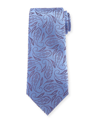 Feather Paisley Silk Tie