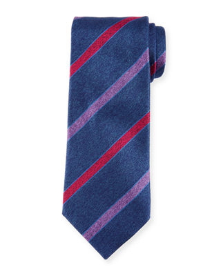 Charvet Melange Striped Silk Tie