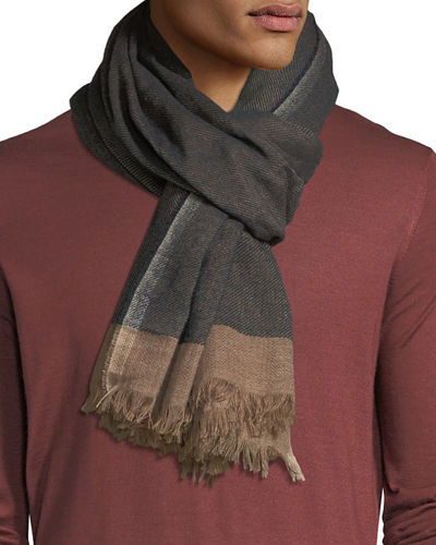 Cashmere/Silk Scarf with Tipping