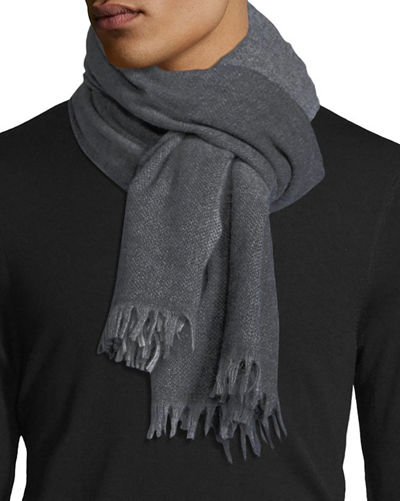 Wool/Cashmere Plaid Scarf