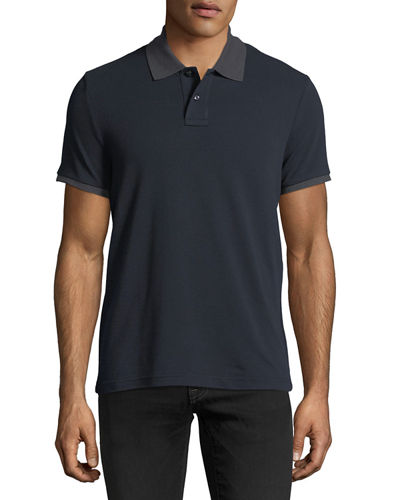 moncler dark green polo