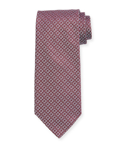 Miniature-Medallion Silk Tie