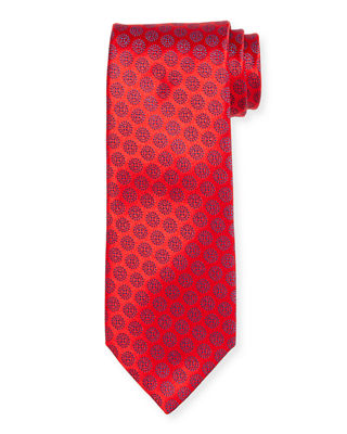 Circle Medallion Silk Tie