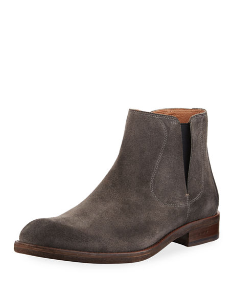 John Varvatos Men's Waverly Covered Suede Chelsea Boots SUKM4r