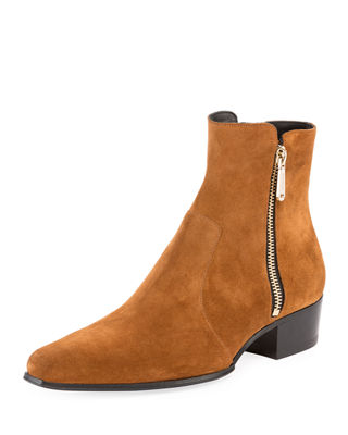 BalmainSuede Anthos Boots