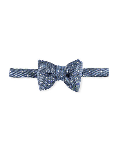 Textured Dot Bow Tie
