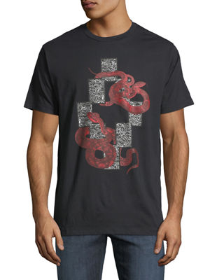 Emerk Snake-Print Graphic T-Shirt
