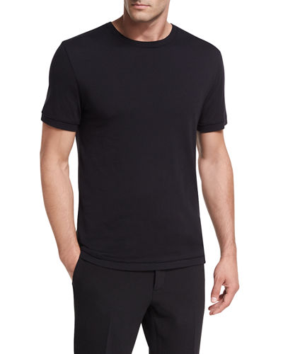 Vince Raw-Edge Crewneck T-Shirt and Matching Items