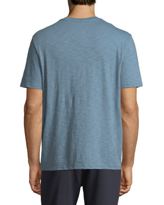 Image 2 of 3: Slub Pima Cotton V-Neck T-Shirt