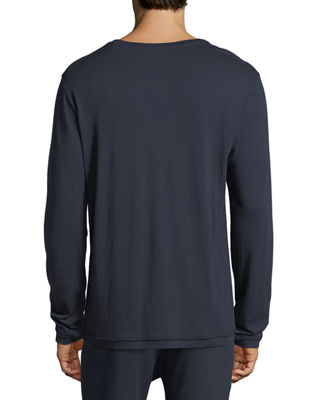 Image 2 of 3: Cotton-Cashmere Long-Sleeve T-Shirt