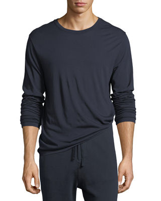 Image 1 of 3: Cotton-Cashmere Long-Sleeve T-Shirt