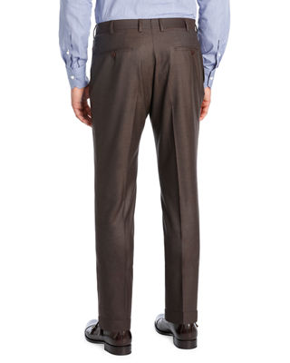 Image 2 of 2: Extralight Saxony Flat-Front Trousers
