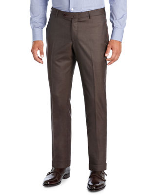 Image 1 of 2: Extralight Saxony Flat-Front Trousers