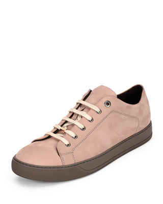 Image 1 of 4: Suede Low-Top Sneaker