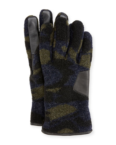 Men's Fuzzy Knit Smart Gloves