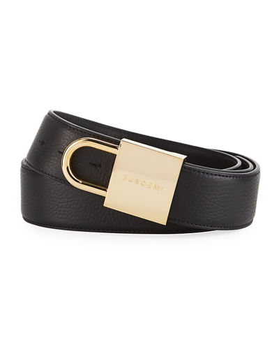 Buscemi Leather Lock Belt