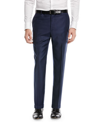 Santorelli Super 130s Wool Twill Dress Pants