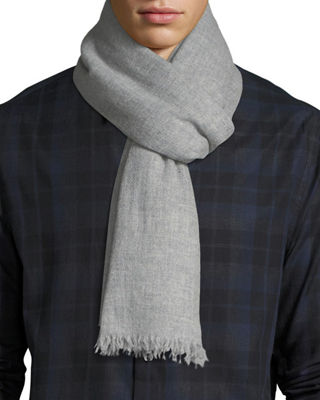 Lightweight Cashmere Scarf with Side Tipping