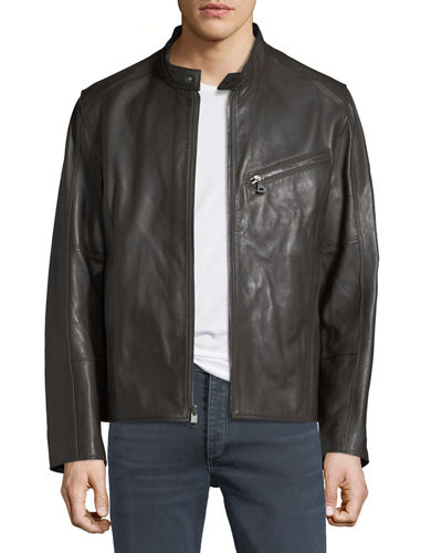 Gibson Lambskin Leather Moto Jacket