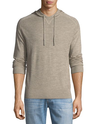 Superlight Merino Pullover Hoodie with Boucle Combo