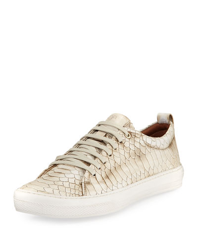 Rand Men's Croc-Embossed Leather Low-Top Sneaker