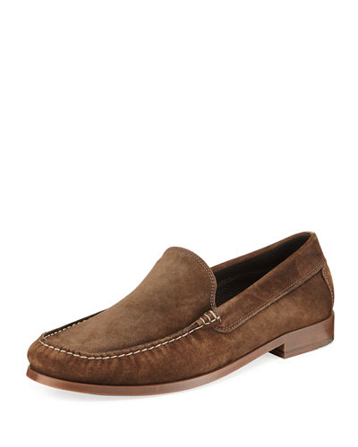 Donald J Pliner Nate Distressed Suede Moc-Toe Loafer