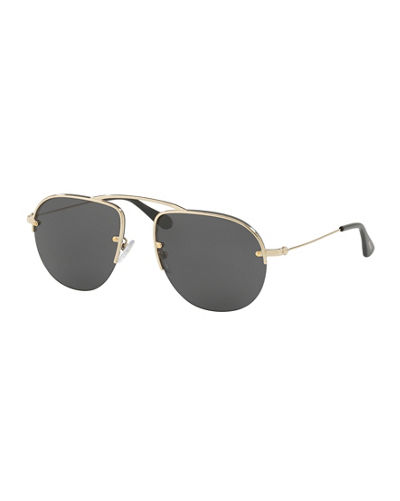 Prada Men's Teddy Aviator Sunglasses