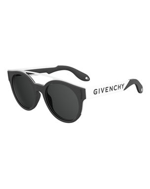 a215066dff8ae Givenchy Stainless Steel   Rubber Round Logo Sunglasses