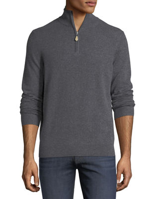 Half-Zip Cashmere Sweater