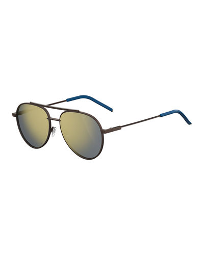Air Men's Metal Aviator Sunglasses