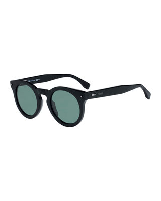 Fendi Sun Fun Men's Round Acetate Sunglasses