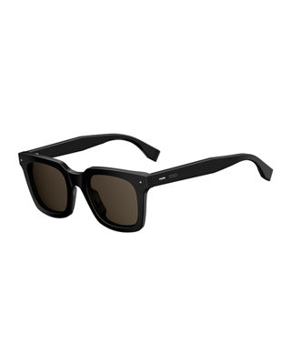 Sun Fun Men's Square Acetate Sunglasses
