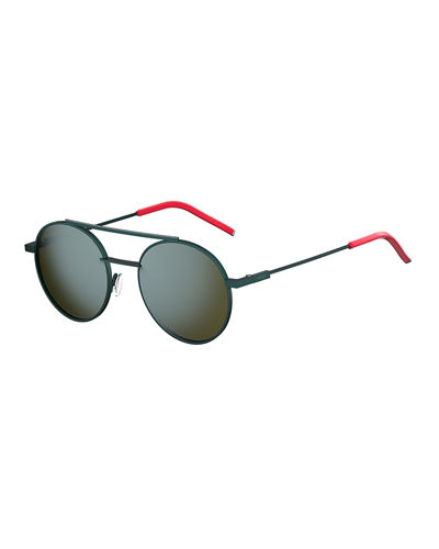Air Men's Circular Metal Sunglasses