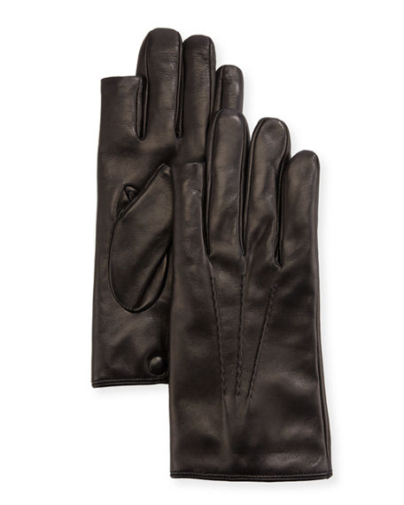 Image 1 of 2: Guanti Giglio Fiorentino 3-Point Napa Leather Gloves w/ Cashmere Lining