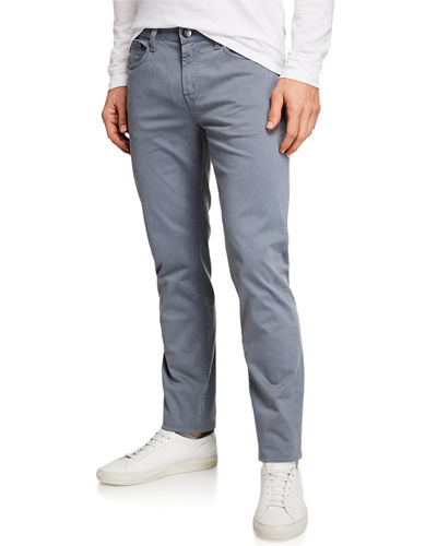 Kane Straight-Leg Twill Pants