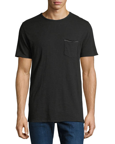 Rag & Bone Owen Overdyed Cotton-Linen T-Shirt