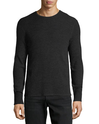 Rag & Bone Men's Gregory Waffle-Knit Thermal Shirt
