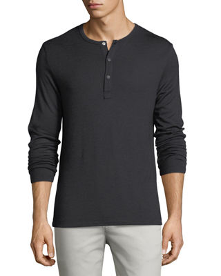 Anemone Snap-Front Henley T-Shirt