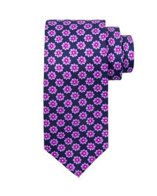 Stefano Ricci Large Flower Printed Silk Tie