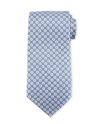 Small Flower Silk Tie
