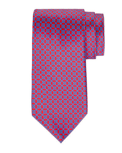 Printed Diamond Silk Tie
