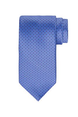Geometric Square Printed Silk Tie