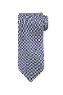 Linked Small Circle Silk Tie