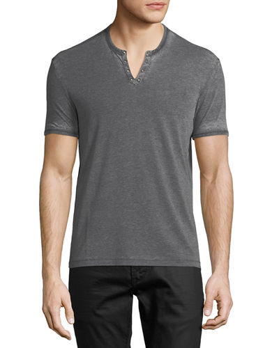 John Varvatos Star USA Burnout Eyelet Henley