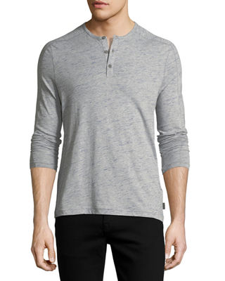John Varvatos Star USA Slub Cotton Henley T-Shirt