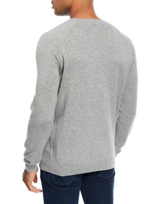 Image 2 of 2: Cashmere Baseball Crewneck  Sweater
